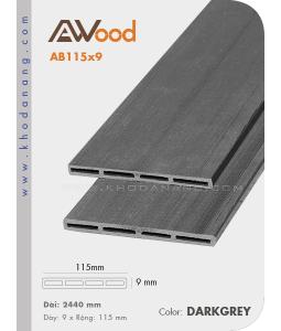 Sàn gỗ Awood AB115x9-darkgrey
