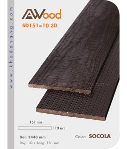 Sàn gỗ Awood AB151x10-3D-Socola