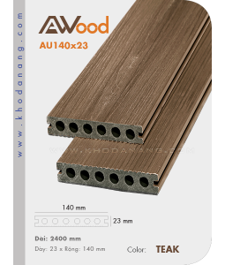 Sàn gỗ AWood AU140x23 Teak