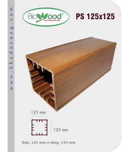 Thanh trụ lan can Biowood PS125x125
