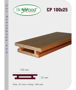 Thanh ốp cột Biowood CP 100x25