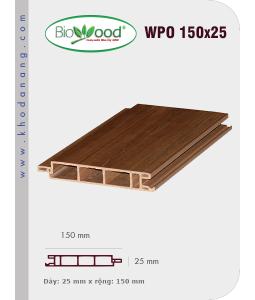 Ốp tường Biowood (hệ dầy) WPO 150x25