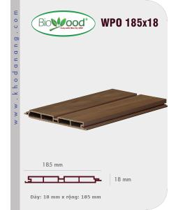 Ốp tường Biowood (hệ dầy) WPO 185x18