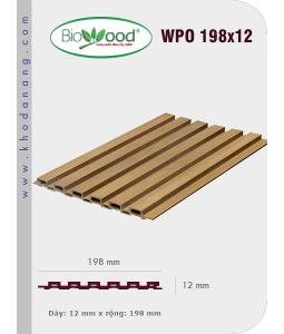Ốp tường Biowood (hệ dầy) WPO 198x12