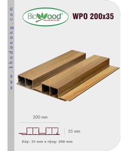 Ốp tường Biowood (hệ dầy) WPO 200x35