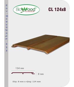 Gỗ ốp trần tường Biowood CL 124x8