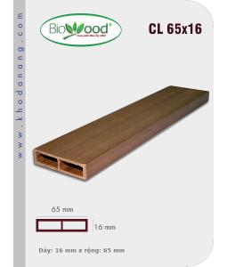 Gỗ ốp trần tường Biowood CL 65x16