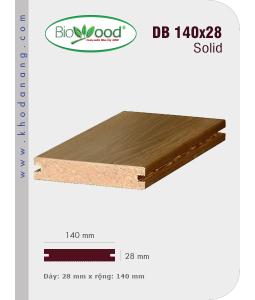 Sàn gỗ Biowood DB 140x28 Soid
