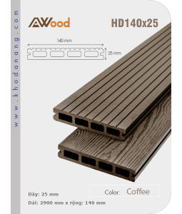 Sàn gỗ Awood HD140x25 Cafe