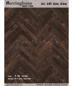 Sàn gỗ Sồi Sơn Xám xương cá