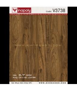 Sàn nhựa hèm khóa Vinapoly V3738