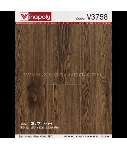 Sàn nhựa hèm khóa Vinapoly V3758