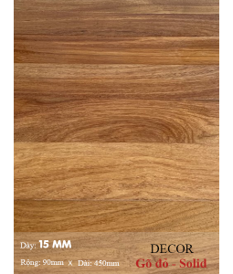 Sàn gỗ gõ đỏ 450mm