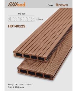 Sàn gỗ AWood HD140x25 Brown