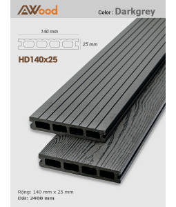 Sàn gỗ Awood HD140x25 Darkgrey