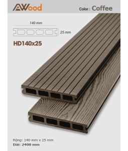 Sàn gỗ Awood HD140x25 Coffee