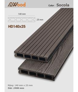 Sàn gỗ AWood HD140x25 Socola