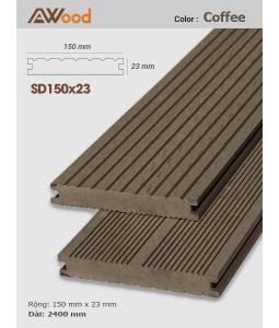 Sàn gỗ AWood SD150x23 Coffee