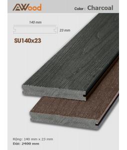 Sàn gỗ AWood SU140x23 Charcoal