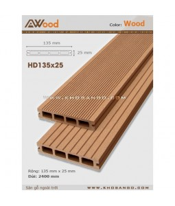 Sàn gỗ AWood HD135x25 Wood