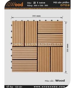 Vĩ gỗ lót sàn Awood DT02_vân gỗ