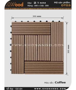 Vĩ gỗ lót sàn Awood DT03_cafe