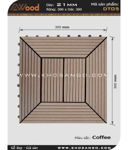 Vĩ gỗ lót sàn Awood DT05_cafe