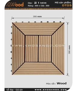 Vĩ gỗ lót sàn Awood DT05_vân gỗ