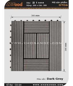 Vĩ gỗ lót sàn Awood DT06_xám