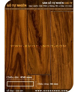 Sàn gỗ  Giá tỵ ( Teak ) 450mm